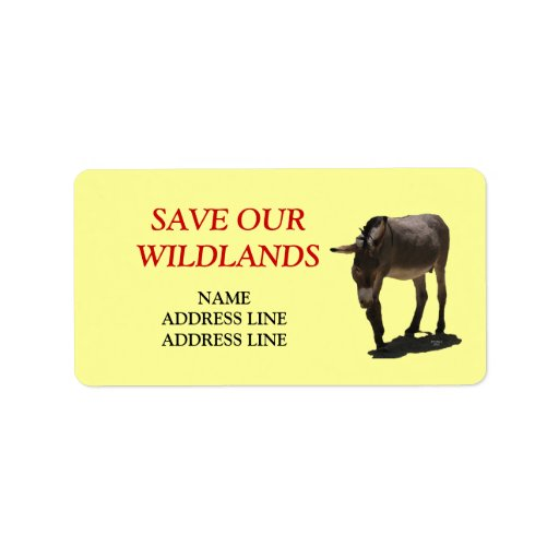 Save Our Wildlands 3 - American Southwest Burro Label