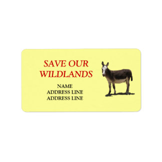 Save Our Wildlands 4 - American Southwest Burro Label
