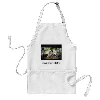Save our wildlife adult apron
