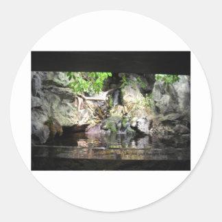 Save our wildlife classic round sticker