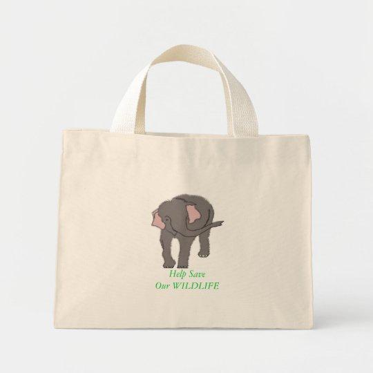 Save Our WILDLIFE Mini Tote Bag