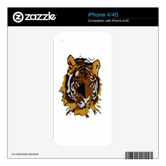 Save Our Wildlife- Tiger Decal For iPhone 4S