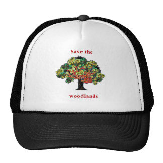 Save our woodlands trucker hat