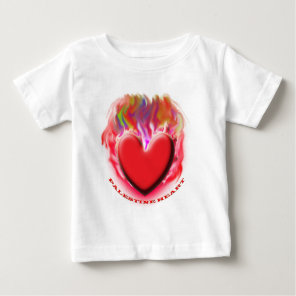 Save Palestine Gaza Heart Baby T-Shirt