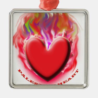 Save Palestine Gaza Heart Ornaments