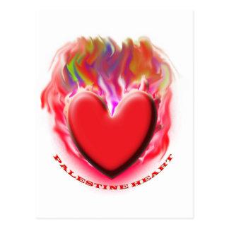 Save Palestine Gaza Heart Postcard