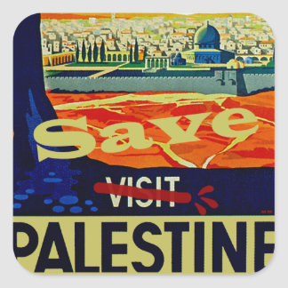 Save Palestine Square Sticker