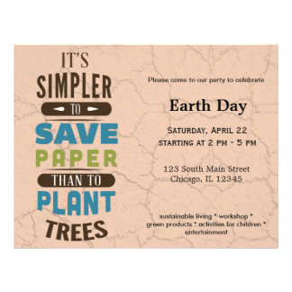 """Save paper 8.5"""" x 11"""" flyer"""