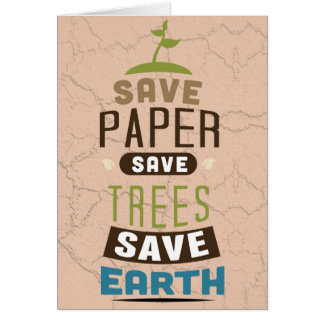 Save paper card