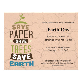 Save paper flyers