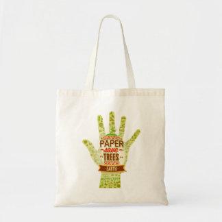 Save Paper, Save trees Tote Bag