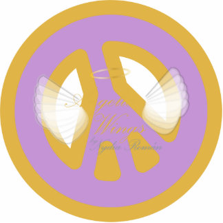 Save Peace Mantram, On Angelic Wings-Sculpture Cutout