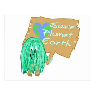 save planet earth postcard