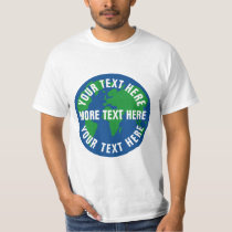 Save planet earth t shirts with custom text