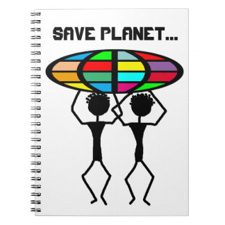 Save planet spiral note books