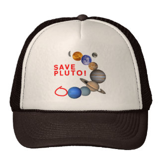 Save Pluto (Solar System) Mesh Hats