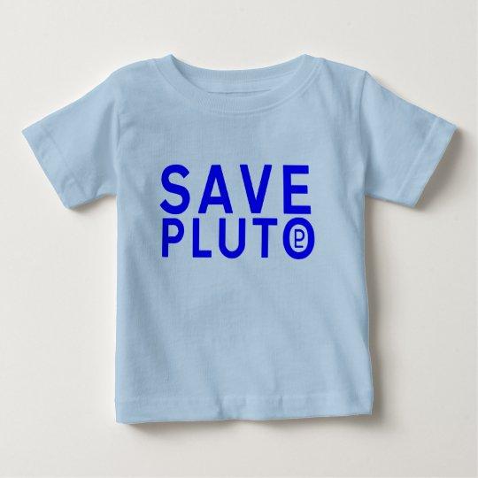 Save Pluto Symbol (Blue) Baby T-Shirt