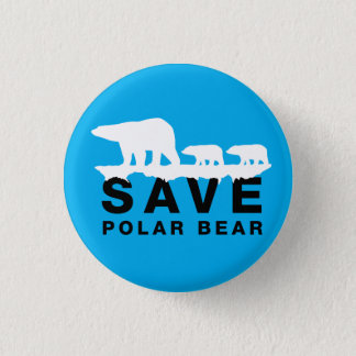 Save Polar Bear Pinback Button