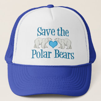 Save Polar Bears Cute Blue White Trucker Hat