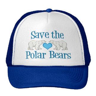 Save Polar Bears Cute Blue White Trucker Hat