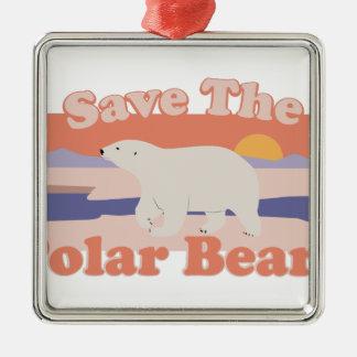 Save Polar Bears Metal Ornament