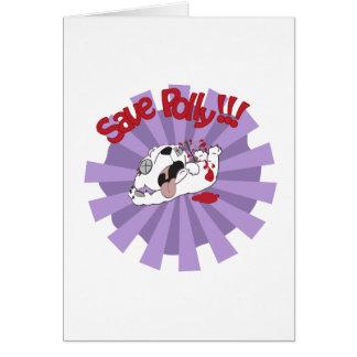Save Polly the Polar Bear Card