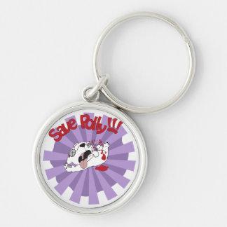 Save Polly the Polar Bear Keychain