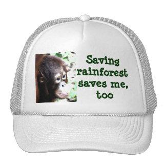 Save Rainforest Save Wildlife Hats