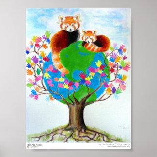 """Save Red Pandas"" Print"