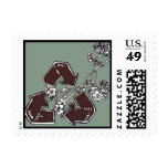 Save,Reuse,Recycle Postage Stamp