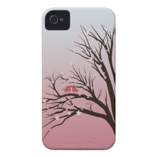 Save robins in a cherry blush sum tree iPhone 4 Case-Mate case