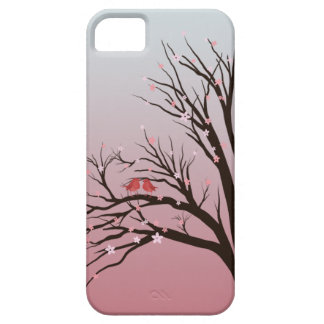 Save robins in a cherry blush sum tree iPhone SE/5/5s case