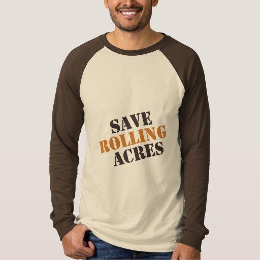 Save Rolling Acres - Brown & Orange Tee Shirt