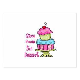 Save Room For Dessert Postcard