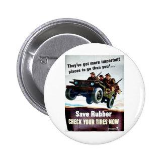 Save Rubber1 2 Inch Round Button