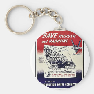 Save Rubber And Gasoline Key Chain