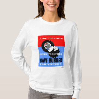 Save Rubber For Victory -- WPA T-Shirt