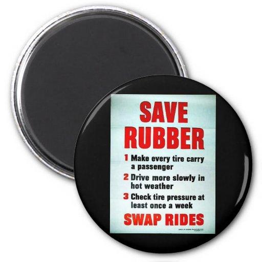 Save Rubber Fridge Magnets