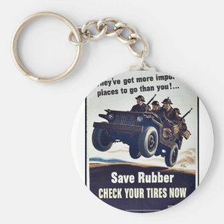 Save Rubber Key Chain