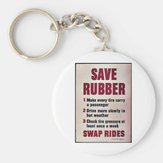 Save Rubber Key Chains