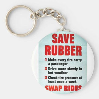 Save Rubber Keychains