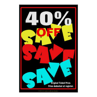 Save Save Save Business Sign/poster template Poster