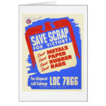 Save scrap for victory! - WPA Card