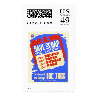 Save scrap for victory! - WPA Stamps