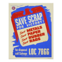 Save scrap for victory! - WPA Poster