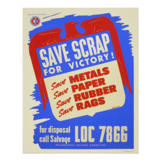 Save scrap for victory! - WPA Posters