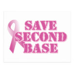 Save Second Base Postcard