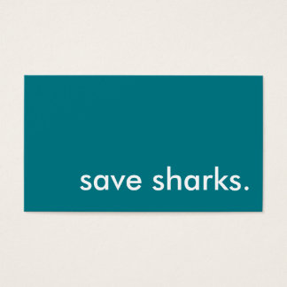save sharks. business card