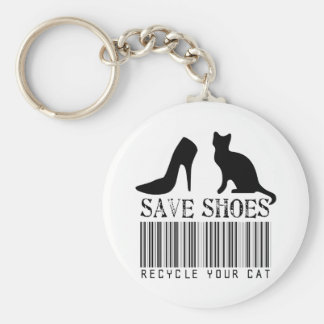 Save Shoes Recycle Your Cat Keychain