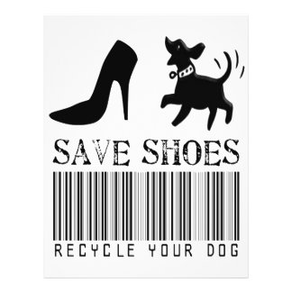 Save Shoes: Recycle Your Dog Flyer